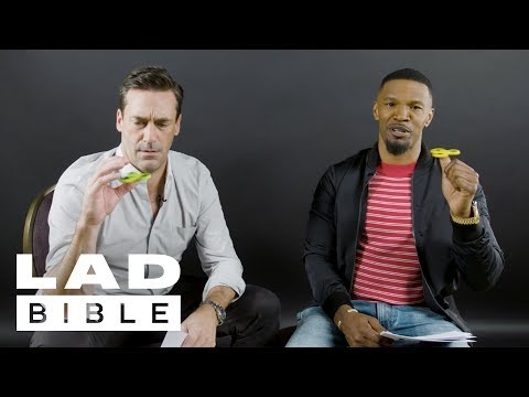 Jamie Foxx And Jon Hamm: The Baby Driver Stars Really Don't Like Fidget Spinners