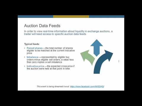 Trading the Auctions with Nasdaq