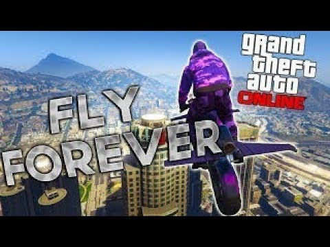 GTA5 ONLINE GLITCH -/eternal flying/upon map/flying forever/
