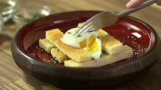 Sous Vide Poached Eggs and Toast Video Recipe