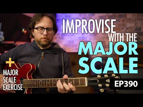 """How to improvise using the major scale - """"Happy Birthday"""" as an example - Guitar Lesson EP390"""