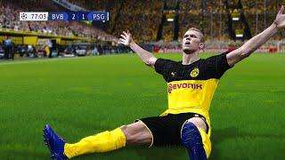 Recreación Borussia Dortmund 2 1 Psg   Uefa Champions League 2020