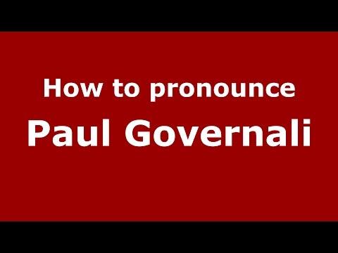 How to pronounce Paul Governali (Colombian Spanish/Colombia)  - PronounceNames.com