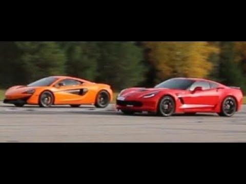 659 HP Chevrolet Corvette Z06 7-speed manual vs 570 HP McLaren 570S Coupé