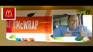 Mcdonalds Southwest Chicken McWrap REVIEWED!!