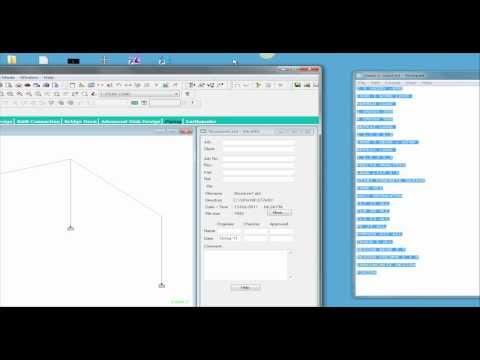 STAAD.Pro V8i Basics (Part 6 - Video) Error Check Command Line Interface