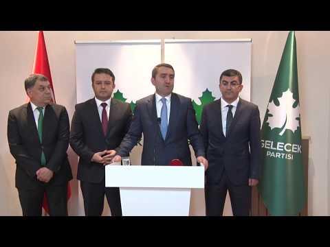 8 Ocak 2020 - Gelecek Partisi Yönetim Kurulu Toplantısı Sonrası Basın Açıklaması