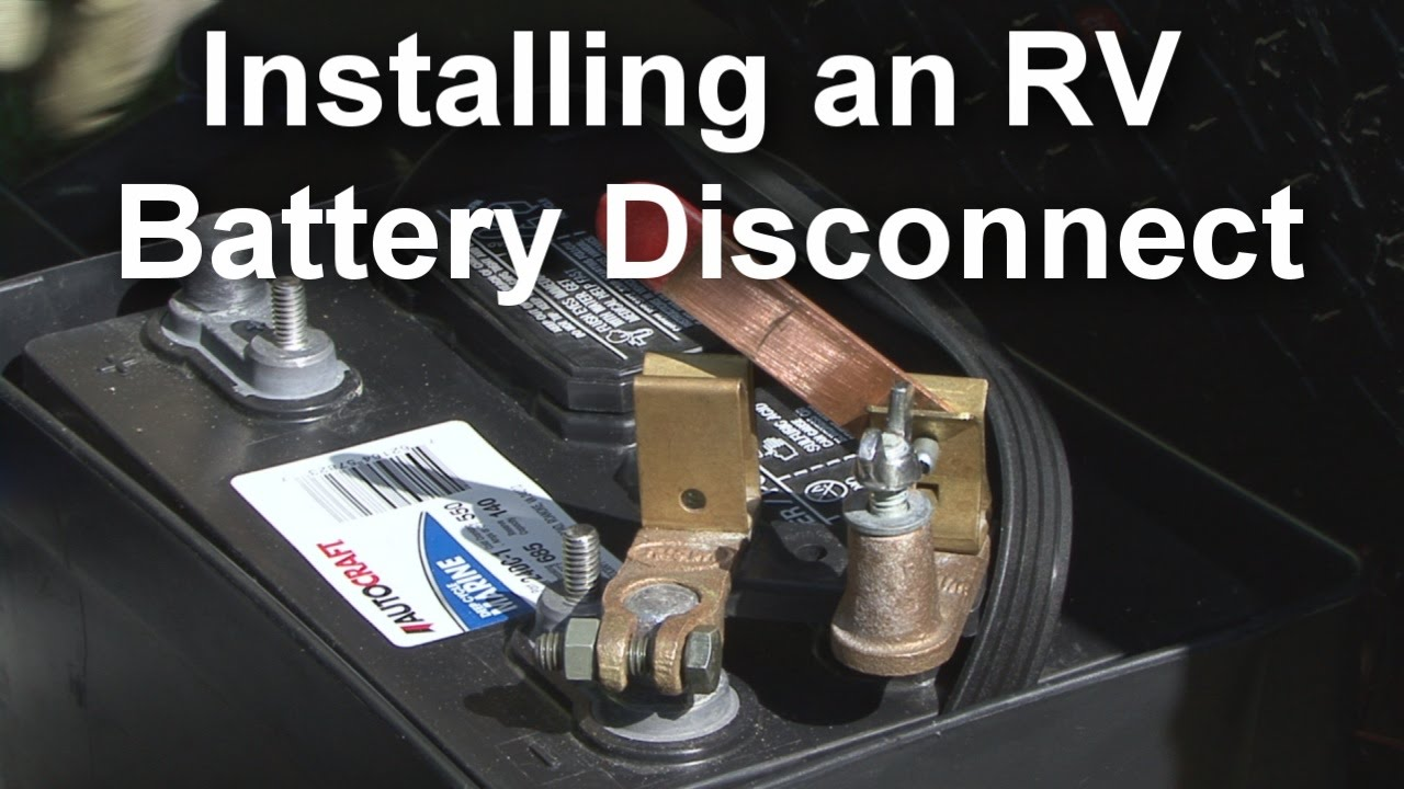 How To Install an RV Battery Disconnect  Post Battery Disconnect Switch Wiring Diagram on