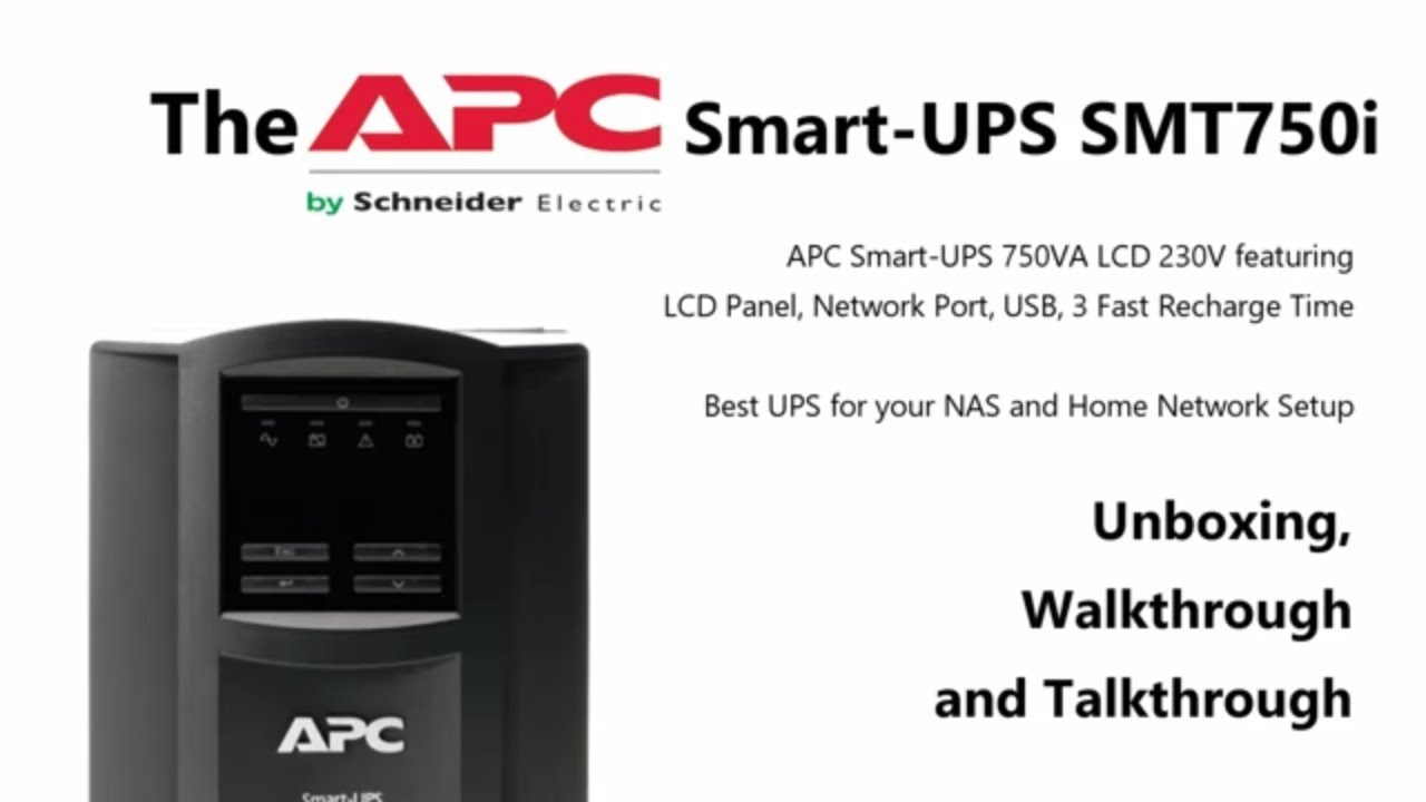 Best UPS for Synology and QNAP NAS - APC Smart UPS SMT750i