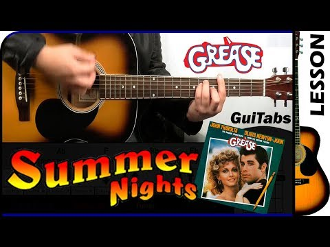 How to play Summer Nights 👦👧 - Grease / Guitar Tutorial 🎸
