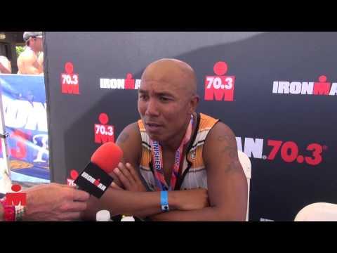 Hines Ward Post Race Interview, 2013 IRONMAN 70.3 Kansas