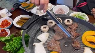 20대 유부초밥 친정집 나들이, 집에서 소고기 구워먹기…