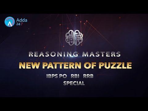 IBPS PO RRB RBI |  Puzzle Tricks | Reasoning | Online Coaching for SBI IBPS Bank PO