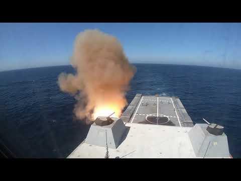 USS Zumwalt (DDG 1000) Conducts Live-Fire Test of SM-2 Missile