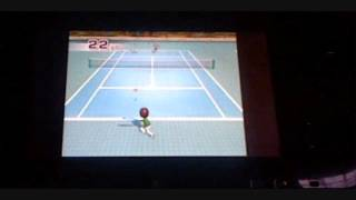 wii sports wii training tennis returning balls 96 points and a platinum medal