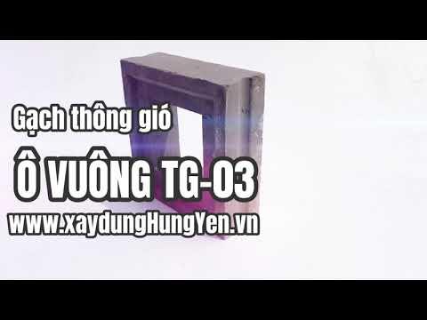 Gạch Thông Gió Lỗ Vuông TG-03 | Gạch Bông Gió Tại Hưng Yên | Gạch ô Thoáng Trang Trí Tại Hưng Yên