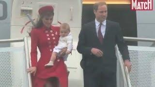 Kate, William Et Le Prince George Débarquent En Nouvelle-zélande
