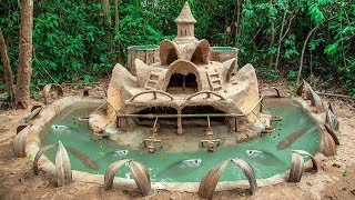 Build Most Amazing Fish Pond Around Dog House And Raising Thousand Of bronze Feather Back Fish thumbnail