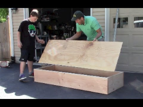 Epic Skateboard Grind Box Diy Youtube
