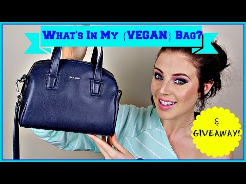 What's In My [Vegan] Bag (GIVEAWAY CLOSED!)