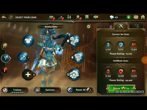 Dungeon Hunter 5 - Arena : 12k Water Dual Crossbows Vs 44k Fire Dual Blades