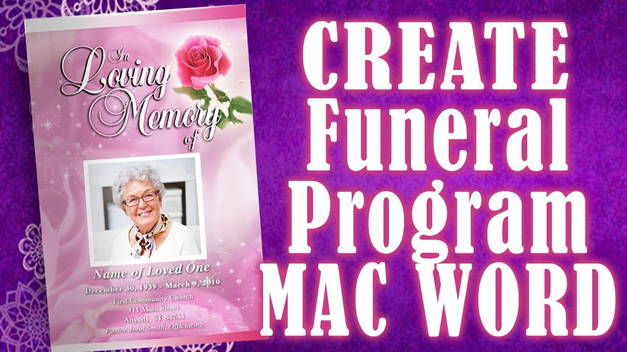 Creating a Memorial Program YouTube – Funeral Program Background