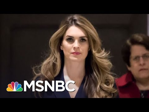 WH Communications Director Hope Hicks Faces House Intelligence Committee | MSNBC