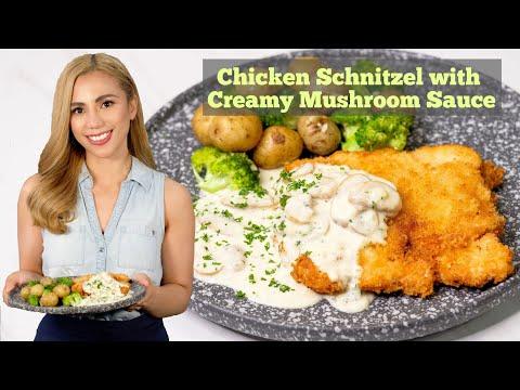 Chicken Schnitzel with Creamy Mushroom Sauce