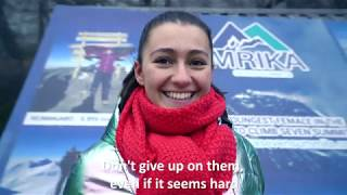 Mrika Nikҫi: The world's youngest woman to climb the seven highest peaks in seven continents