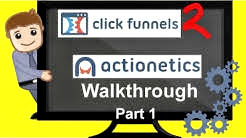 Clickfunnels Review - Actionetics Walkthrough & Demo - Customer Relationship Management - PART 1