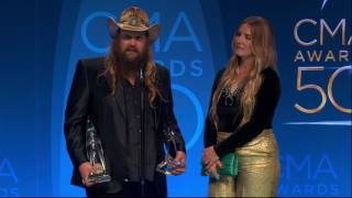 Chris Stapleton Reacts to CMA Male Vocalist and Video of the Year Wins