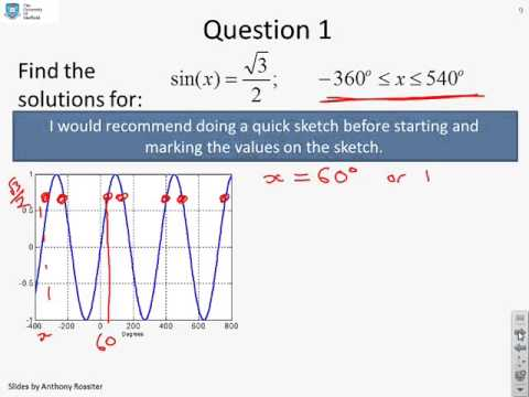 Revision of A level trigonometry - questions and answers 2