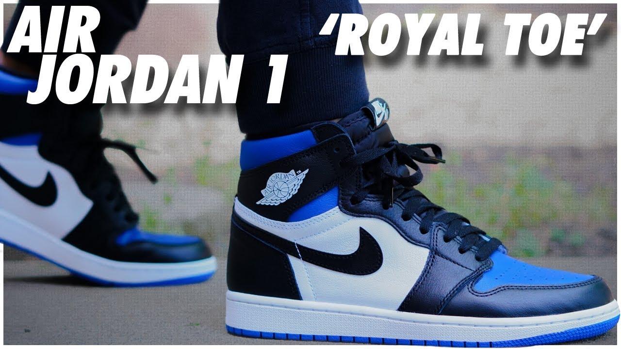 Air Jordan 1 High Og Royal Toe Youtube
