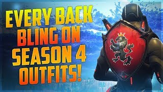 Season 4 Outfits With Every Back Bling - Fortnite Cosmetics