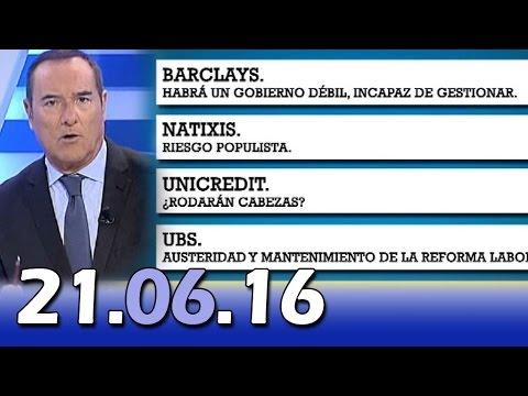 El Cascabel 13tv 21.06.16  Banderas Españolas en BCN   Advertencia Bancos sobre Podemos   Carmenadas