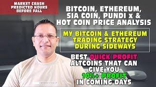 MARKET CRASH - Bitcoin, Ethereum, SiaCoin, PundiX Price Analysis. Quick Profit Altcoins List