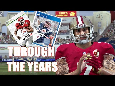 Colin Kaepernick Through the Years - NCAA Football 09 - Madden 17
