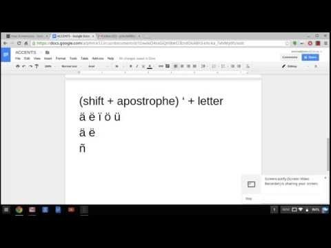 How To Type Accents For Foreign Language Chromebooks