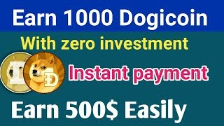 Earn 1 Dogicoin every minutes free? free bitcoin cloud mining sites 2018 in Hindi technical review