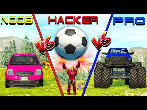 NOOB vs PRO vs HACKER crashes #9 - Beamng drive (cars crashes)