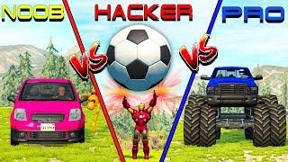 NOOB vs PRO vs HACKER crashes #9 - Beamng drive