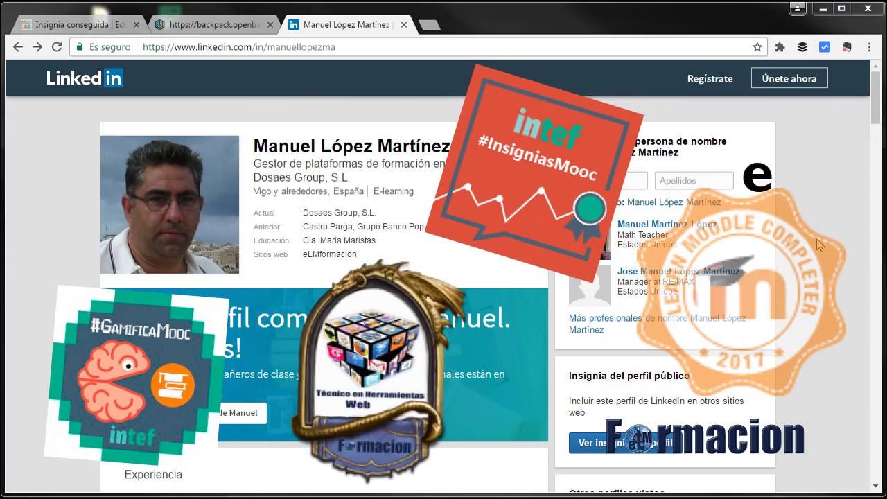 Como insertar insignias en nuestro perfil de LinkedIn - YouTube