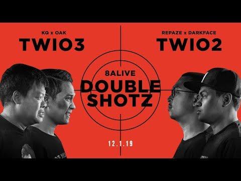 DOUBLE SHOTZ : OAK x KQ vs REPAZE x DARKFACE  (8ALIVE) | RAP IS NOW