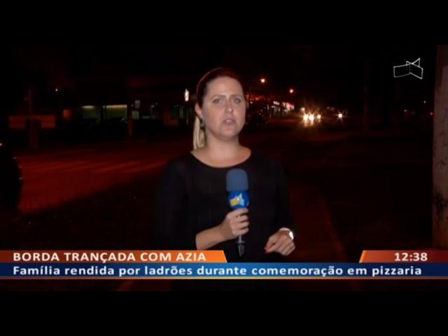 DF ALERTA - Família rendida por ladrões durante comemoração em pizzaria