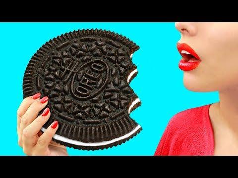 Огромные и миниатюрные сладости – 9 идей - Популярные видеоролики!