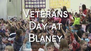 Veterans Day Program Highlights  - Blaney Elementary School - November 11, 2016