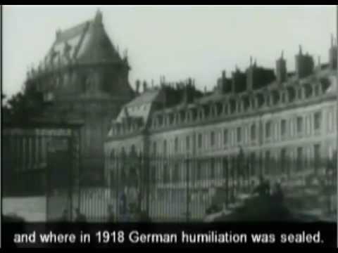 Swastika flag rises over Versailles and Paris June 1940
