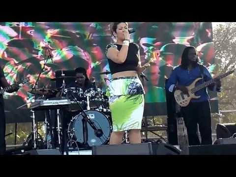 Tessanne Chin performing at 9 Mile Music Festival 2014 in Miami