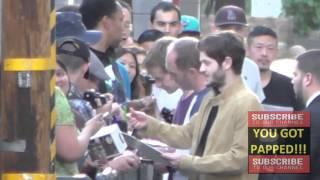 alfie allen iwan rheon and michael mcelhatton greets fans outside jimmy kimmel live in hollywood