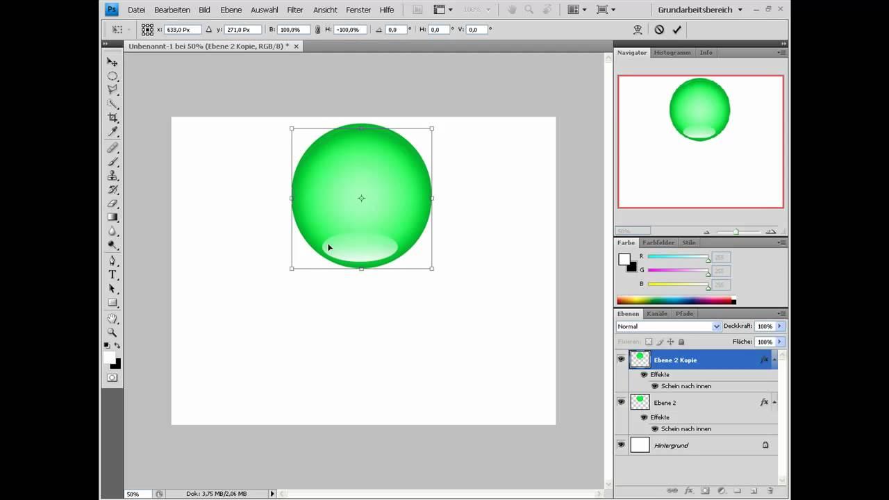 Photoshop Tutorial German 3d Kugel Erstellen Youtube